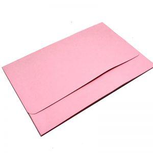 แฟ้มกระเป๋าการ์ดไม่ผูกเชือกสีชมพู Folder with one pocket
