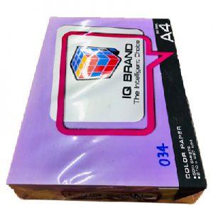 กระดาษสีม่วงนีออนIQ BRAND 80 แกรม A4 เบอร์34