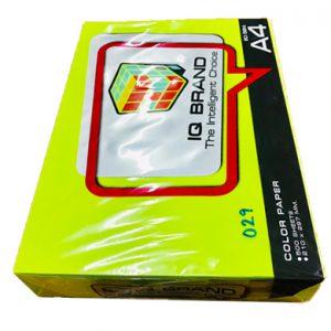 กระดาษสีเขียวนีออนIQ BRAND 80 แกรม A4 เบอร์29