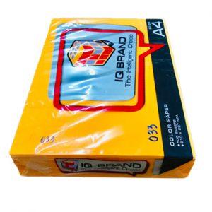 กระดาษสีส้มนีออนIQ BRAND 80 แกรม A4 เบอร์33