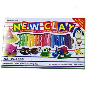 ดินน้ำมันวิทยาศาสตร์ไร้สารพิษNEW CLAY no.JS-1000 (Non-Toxic Clay) 24สีต่อแพ็ค