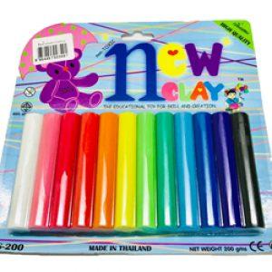 ดินน้ำมันวิทยาศาสตร์ไร้สารพิษ no.200 (Non-Toxic Clay) 12สีต่อแพ็ค