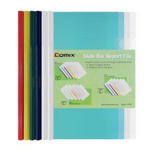 แฟ้มโชว์เอกสารสันรูด A4 คละสี (แพ็ค6เล่ม) โคมิค Q310