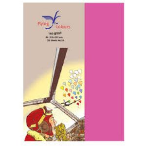 กระดาษสีFlying Colours 160 แกรม ขนาดA4 50 แผ่น/ห่อ no.24สีชมพูบานเย็น