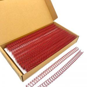 สันขดลวดชนิด 3:1 นิ้วขนาด 9.5 มม(3/8นิ้ว)34ข้อ (A4)สี แดง