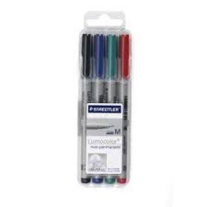 ชุดปากกาเขียนแผ่นใส4ด้าม ลบได้ M(1.0มม.) สเต็ดเล่อร์ 315-WP4