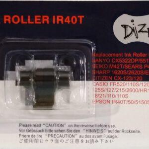 ผ้าหมึกอิงค์โรลเครื่องคิดเลข สีดำ/แดง DIZE IR-40T