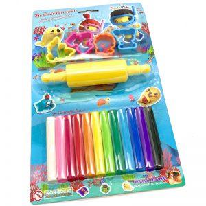 ดินน้ำมันไร้สารพิษ12สี Smile Kids SK-160 MS+อุปกรณ์5ชิ้น
