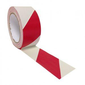 เทปพลาสติกกั้นเขต สีขาว-แดง WARNING tape2นิ้วx200เมตร
