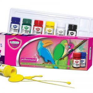 สีโปสเตอร์ มาสเตอร์อาร์ต จิตรกรน้อย 15 มล. กล่อง 6 สี