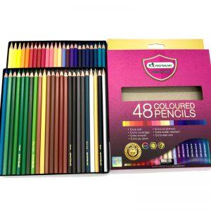ดินสอสีไม้ แท่งยาว48สี  มาสเตอร์อาร์ต แถมฟรี กบเหลา1อัน