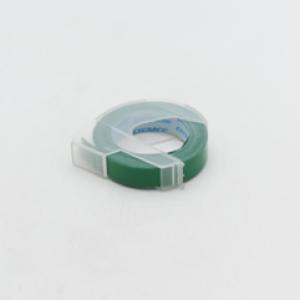 เทปปั๊มอักษรนูน ไดโม ผิวมัน 9 มม.X3 ม. สีเขียว